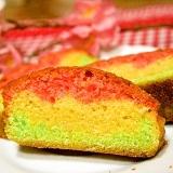 ひな祭りに✿色がキレイな3色パウンドケーキ