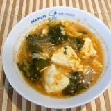 豆腐と卵のピリ辛スープ