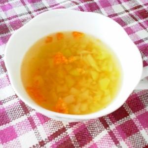 ドリトス香る♪ブロッコリーの芯のスープ