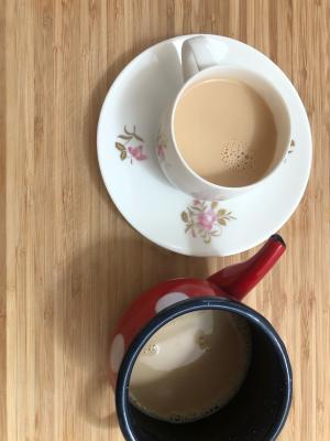 コーヒーフィルターを使うミルクティーの作り方