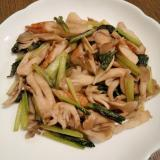 ちくわ&小松菜&舞茸の炒め物