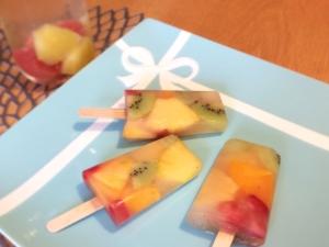 フォトジェニック♪フルーツアイスキャンディー