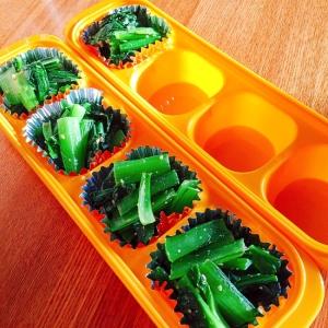 お弁当用に冷凍★納豆のタレで小松菜炒め
