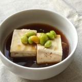 枝豆のあんかけ豆腐