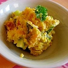 ヘルシー★キヌアとかぼちゃのサラダ