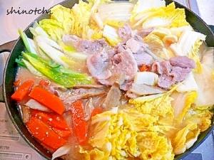白菜と豚肉の味噌鍋