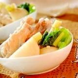 圧力鍋レシピ 鶏手羽元とカブのスープ