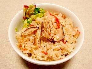 サバ缶と椎茸の☆炊き込みご飯
