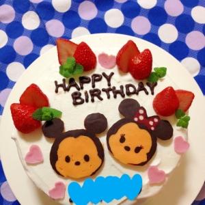 簡単☆ツムツムミッキー&ミニーのキャラケーキ♪