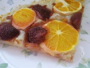 ヘルシーおやつに☆いちごとオレンジのピザ