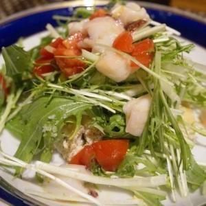 【新潟食材】水菜のタコスサラダ