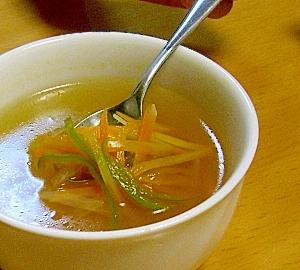 彩り野菜の中華スープ