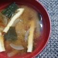 新玉ねぎ・おあげ・わかめのお味噌汁