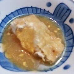 卵おとし油揚げ煮