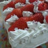 ☆オーブンなしで!いちごのショートケーキ☆
