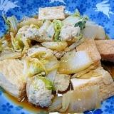 ❤ 手作り鶏つくね&厚揚げ&白菜の煮物 ❤
