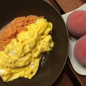 冷凍トマトを使ったケチャップを使わないオムライス!