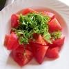 トマトと大葉のポン酢和え