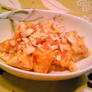 かぼちゃのヨーグルト・味噌・ナッツサラダ