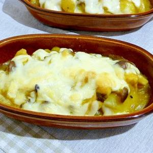 カップスープの素でカジキとじゃが芋のチーズ焼き
