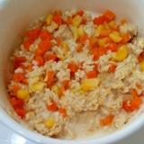 離乳食☆オートミールとにんじんとコーンのコンソメ煮