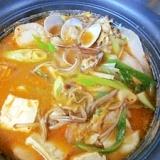 韓流と塩麹のコラボ☆ 「豚バラ海鮮天醤鍋」
