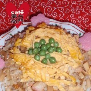ひな祭りの和風辣油ご飯