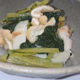 小松菜と煮込み竹輪の煮物