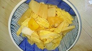 大根と白菜のゆず味噌煮