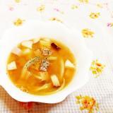 ターメリック風味♪きのこと玉葱の味噌スープ