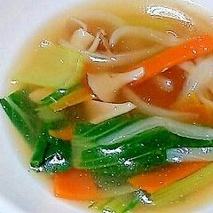チンゲン菜の中華スープ