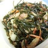 切り昆布と豚肉の炒め煮