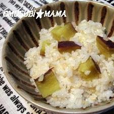 胚芽米でサツマイモごはん♪