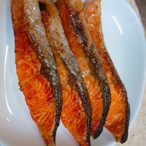 だし醤油で焼き鮭