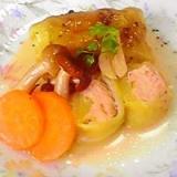 塩鮭&キャベツdeガーリックスープ煮