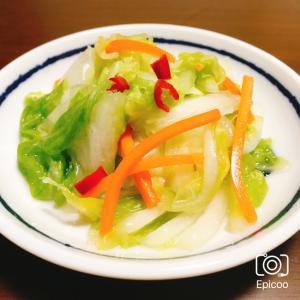 放置で簡単!にんにく風味の白菜の漬物