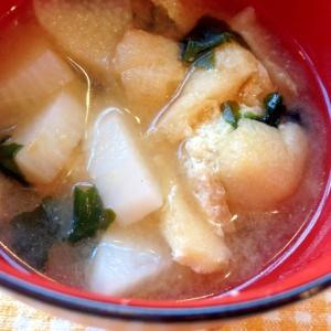 長芋のお味噌汁♪