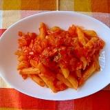 トマトジュースでペンネアマトリチャーナ