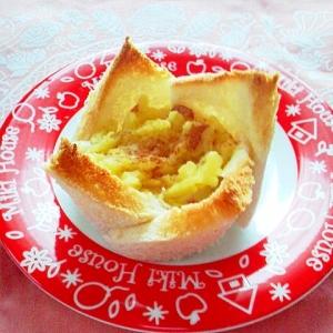 食パンで!さつまいものタルト風♪