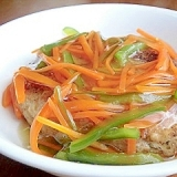 野菜あんかけハンバーグ
