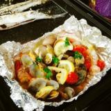 BBQに★簡単魚貝のホイル蒸し