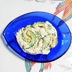 ゴーヤと絹ごし豆腐の炒め物