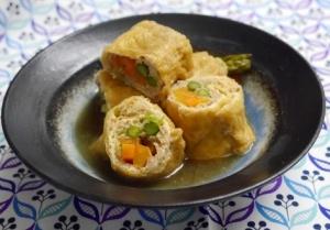 鶏ひき肉と彩り野菜の信田煮