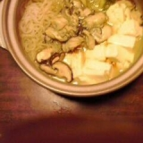 一人で牡蠣鍋
