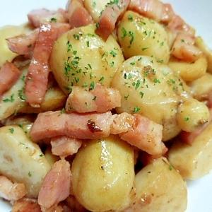 里芋とベーコンの炒め煮