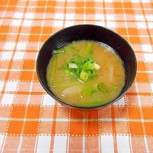 小松菜と新玉ねぎのお味噌汁