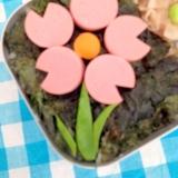 幼稚園のお弁当に!お花のお弁当♡