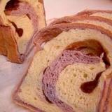 ::紫芋のうずまき餡パン::
