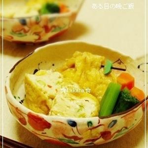 ふわふわじゅっわ~豆腐の巾着煮