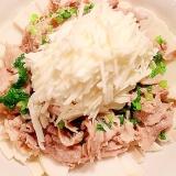 切り落としで十分美味しい冷しゃぶと白野菜サラダ